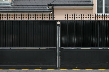 Downtown apartment gate